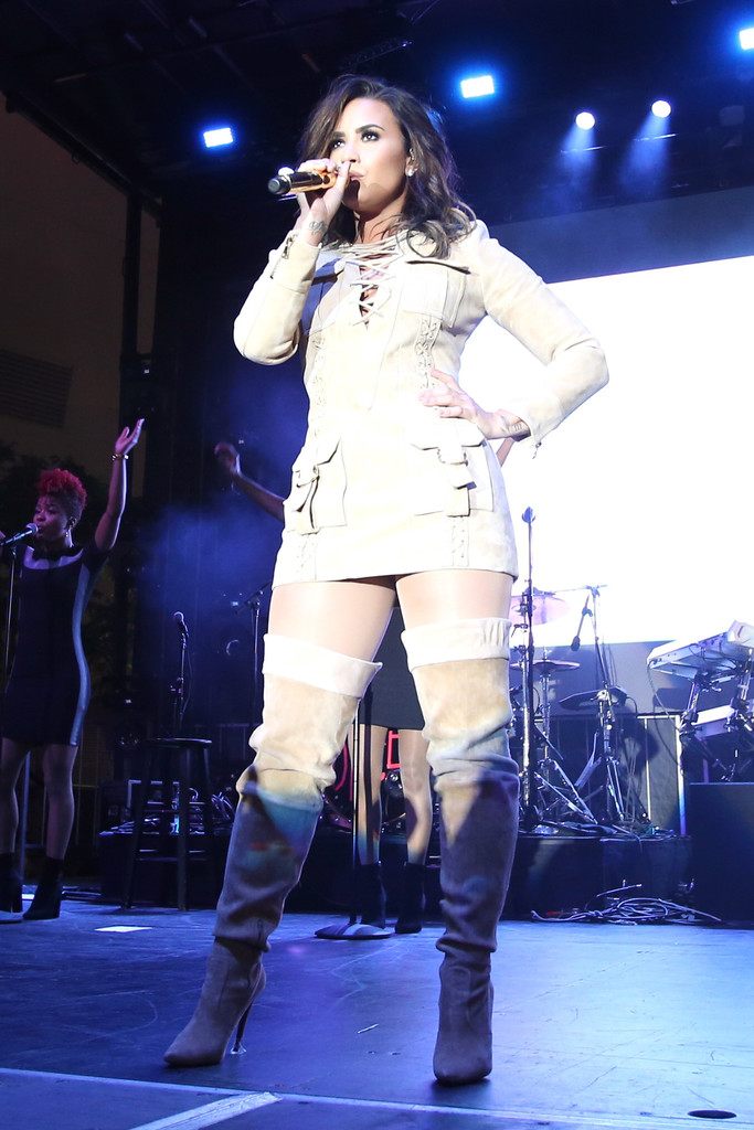 Demi Lovato Over The Knee Boots Over The Knee Boots