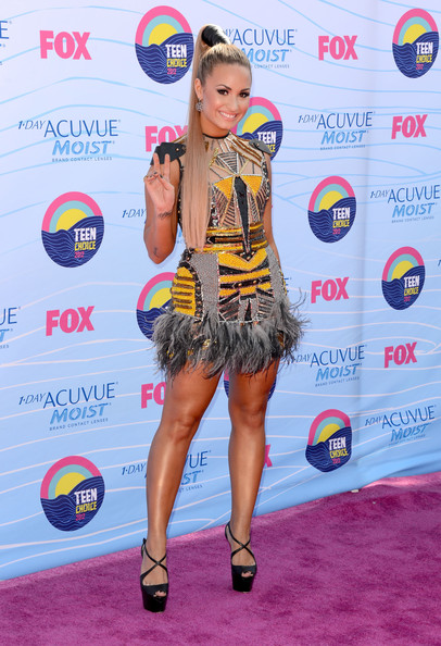 Demi Lovato Beaded Dress