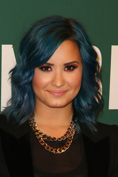 Demi Lovato Gold Chain [hair,face,hairstyle,eyebrow,black hair,head,chin,lip,beauty,forehead,demi lovato,bookstore,the grove,los angeles,california,barnes noble,demi lovato signing,book signing]