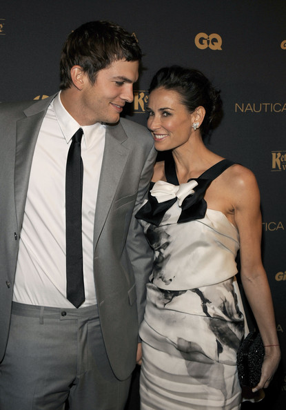 Demi Moore Sequined Clutch [suit,hairstyle,fashion,formal wear,event,dress,outerwear,premiere,tuxedo,fashion design,new york city,the edison ballroom,ball 2009,gq gentlemen,ashton kutcher,gq gentelmen,demi moore]