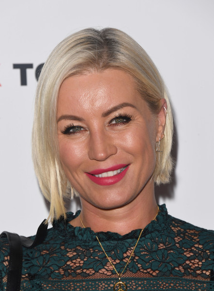 Denise van Outen Bob [hair,face,blond,hairstyle,eyebrow,lip,chin,head,beauty,forehead,red carpet arrivals,denise van outen,england,london,make us dream documentary world premiere,world premiere of make us dream,the curzon mayfair]