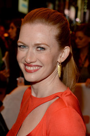 Mireille Enos pulled her hair back in a sleek ponytail for the premiere of 'The Devil's Knot.'