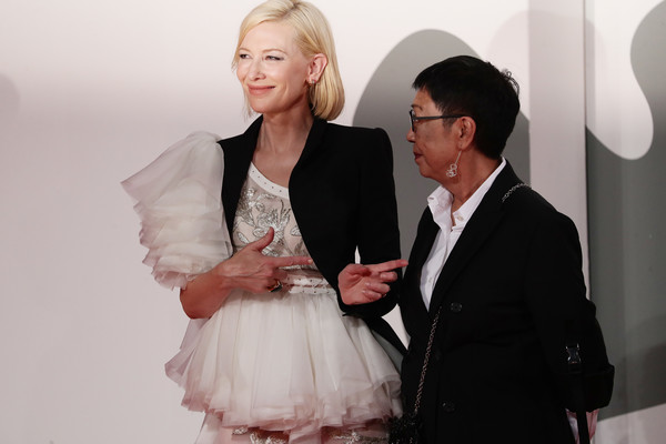 More Pics of Cate Blanchett Embroidered Dress (6 of 65) - Cate Blanchett Lookbook - StyleBistro [movie,white,fashion,beauty,skin,event,human,fashion design,suit,formal wear,outerwear,cate blanchett,di yi lu xiang,ann hui,venezia77 jury,red carpet,love after love,fashion,77th venice film festival,event,health,haute couture,flooring,socialite,tuxedo m.,event,beauty.m]