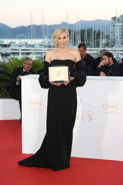 Diane Kruger Off-the-Shoulder Dress [photocall - the 70th annual cannes film festival,in the fade,movie,red carpet,carpet,event,flooring,award,premiere,dress,award ceremony,diane kruger,winner,actress,award,part,cannes film festival,palais des festivals]