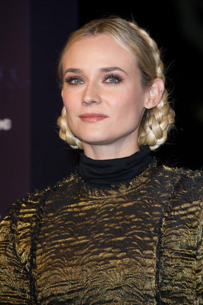 More Pics of Diane Kruger Braided Updo (1 of 28) - Diane Kruger Lookbook - StyleBistro