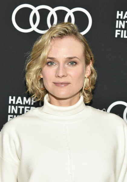 Diane Kruger Curled Out Bob [in the fade,hair,beauty,human hair color,eyebrow,hairstyle,blond,fashion model,shoulder,long hair,brown hair,diane kruger,red carpet,east hampton,new york,hamptons international film festival]