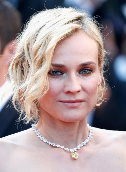 Diane Kruger Messy Cut [hair,face,blond,hairstyle,eyebrow,chin,lip,beauty,long hair,layered hair,diane kruger,cannes,france,red carpet arrivals,cannes film festival,closing ceremony,palais des festivals]