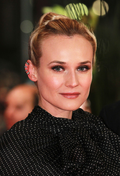 Diane Kruger Classic Bun [les adieux de la reine,premiere during day,hair,face,eyebrow,hairstyle,lip,beauty,blond,forehead,chin,fashion,diane kruger,berlin,germany,berlinale palast on february 9,premiere - 62nd berlinale international film festival,berlin international film festival]