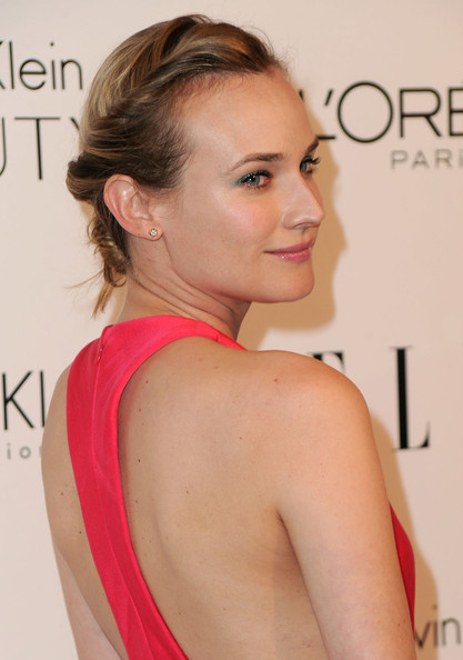 Diane Kruger Classic Bun [elle,hair,face,shoulder,hairstyle,skin,chin,beauty,eyebrow,lip,blond,17th annual women in hollywood tribute,beverly hills,california,the four seasons hotel,17th annual women in hollywood tribute - arrivals,diane kruger]