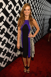 Ahna O'Reilly attended the Journey of a Dress exhibition opening wearing, what else, a DVF print dress.