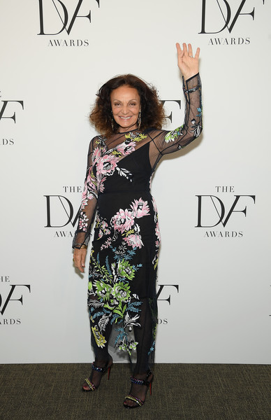 Diane von Furstenberg Evening Sandals [clothing,fashion,dress,fashion design,shoulder,footwear,carpet,flooring,style,black-and-white,diane von furstenberg,new york city,united nations,dvf awards]