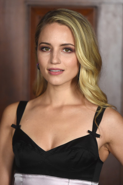 Dianna Agron Long Wavy Cut [marc jacobs,arrivals,diana argon,hair,blond,clothing,shoulder,beauty,hairstyle,lady,brassiere,model,lip,fashion show,new york fashion week,new york city,park avenue armory]