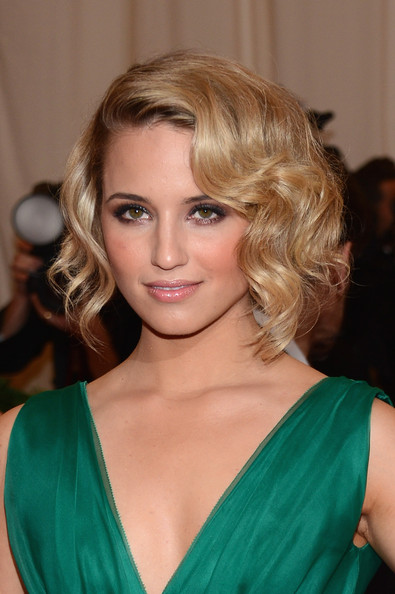 Dianna Agron Short Wavy Cut [hair,blond,face,hairstyle,eyebrow,chin,shoulder,brown hair,beauty,lip,schiaparelli and prada: impossible conversations costume institute gala,ny,metropolitan museum of art,dianna agron]