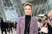 Dianna Agron Tweed Coat