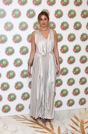 Whitney Port wore this silver draped dress to the Didier Drogba Foundation Charity Ball.