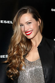 Petra Nemcova wore her ultra-long locks in loose curls at the Diesel Black Gold fall 2012 fashion show.