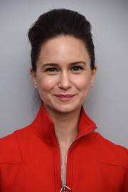 Katherine Waterston looked cool with her pompadour at the 'Dior and I' premiere.