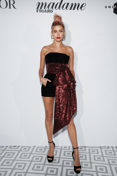 Hailey Baldwin In Roberto Cavalli Couture