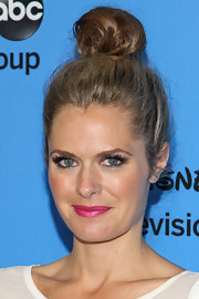 Maggie Lawson took it to the limit with this super high top knot.