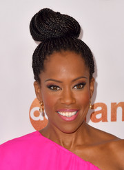 Regina King swept her hair up into a voluminous braided top bun for the Disney Group's Summer TCA Press Tour.