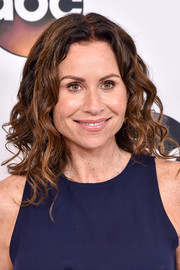 Minnie Driver attended the Disney ABC Summer TCA Tour wearing her hair in a cascade of curls.