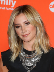 Ashley Tisdale styled her shoulder-length locks with barely-there waves for the TCA Summer Press Tour.
