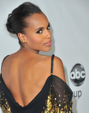 Kerry Washington wore her hair in a sleek updo during the TCA Winter Press Tour.