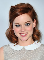 Jane Levy attended the TCA Winter Press Tour wearing her fiery tresses in soft curls.