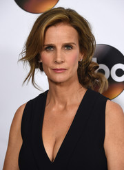 Rachel Griffiths sported a glamorous knotted chignon at the Disney ABC Television Group Winter TCA Tour.