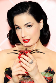 Dita Von Teese topped off her regal look with an amazing diamond ring.
