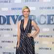 In A Printed Dress At 'The Divorce' Premiere
