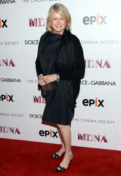 Martha kept it simple and chic on the red carpet where she wore this black shift dress.