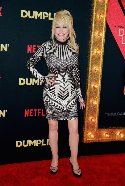 Dolly Parton Form-Fitting Dress [red carpet,carpet,clothing,dress,premiere,flooring,fashion,fashion model,footwear,cocktail dress,arrivals,dolly parton,dumplin,california,hollywood,tcl chinese 6 theatres,netflix,premiere,premiere]