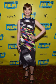 Gillian Jacobs embraced color with this prism-print dress for her SXSW 'Don't Think Twice' screening look.