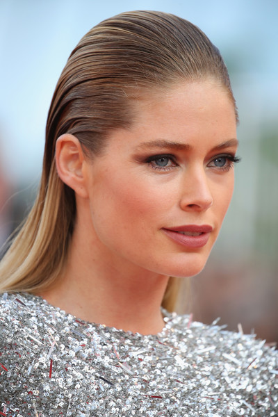 Doutzen Kroes Long Straight Cut [the beguiled,hair,eyebrow,beauty,hairstyle,human hair color,fashion model,blond,chin,forehead,fashion,red carpet arrivals,doutzen kroes,screening,cannes,france,cannes film festival,palais des festivals]
