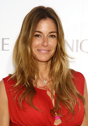 Kelly Bensimon opted for natural beachy waves to showcase her 'bronde' locks.