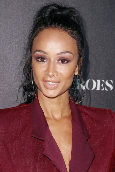 Draya Michele Ponytail [heroes,hair,hairstyle,face,eyebrow,forehead,chin,beauty,lip,black hair,long hair,arrivals,draya michele,city market social house,los angeles,california,espys]