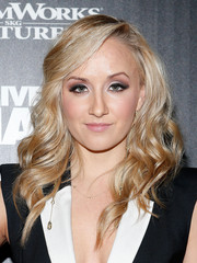 Nastia Liukin wore her hair in sculpted waves with a deep side part during the 'Delivery Man' screening in NYC.