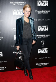 Tara Subkoff pulled her ensemble together with a pair of edgy black ankle boots.