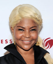 Misa Hylton Brim chose a a nude glossy lip for her sleek look at the 'Dress for Success' event in NYC.