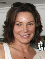 LuAnn de Lesseps sported a chic razor cut at the Hamptons summer kickoff event.