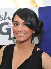 Angelina Pivarnick looked oh-so-romantic wearing her hair in a loose side bun.