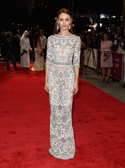 Olga Kurylenko looked downright divine at the Dubai International Film Festival in an intricately embellished gown by Ralph & Russo Couture.