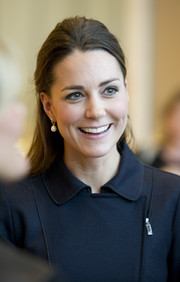 Kate Middleton sported a simple half-up half-down hairstyle when she attended the Place2Be Forum.