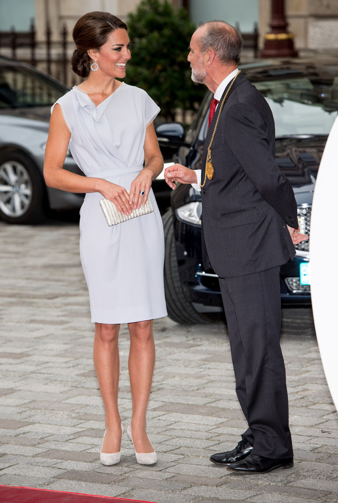 Kate+Middleton in The Duchess Of Cambridge Attends The UK's Creative Industries Reception
