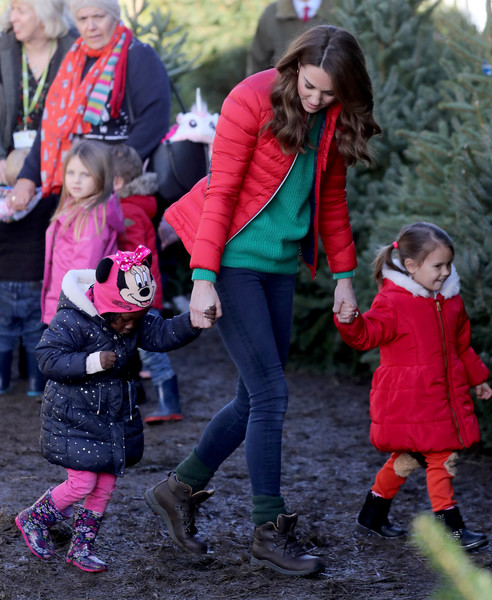 More Pics of Kate Middleton Skinny Jeans (7 of 122) - Jeans Lookbook - StyleBistro [duchess of cambridge joins family action to mark new patronage,people,pink,red,child,footwear,fun,tree,winter,toddler,outerwear,families,children,catherine,duchess,patronage,cambridge,peterley manor farm,charity,family action]
