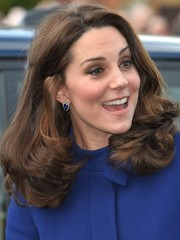 Kate Middleton showed off a super-sweet curly 'do while opening the Action on Addiction Community Treatment Centre.