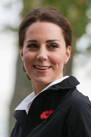 Kate Middleton kept it simple and classic with these Kiki McDonough diamond studs during her visit to the Lawn Tennis Association.