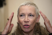 Annie Lennox wore her hair in a very short pixie at the 2018 Women of the World Festival.