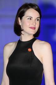 Michelle Dockery looked cute and youthful with her bob during the Winter Whites Gala.